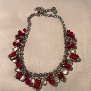 WHBM red charm necklace